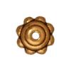 Bead Cap Beaded 5mm Antique Gold